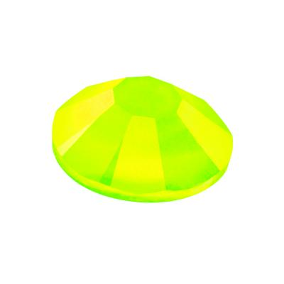 Preciosa Maxima Crystal Neon Yellow under UV Light