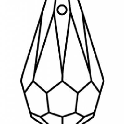 Preciosa Crystal 984 Drop Pendant stock diagram