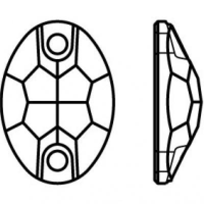 Preciosa Oval - Crystal AB pic 2