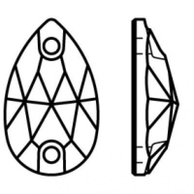 Preciosa Pearshape - Crystal AB pic 2