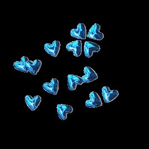 Hearts - Blue