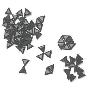 Jet Triangles - AAA Grade Glass Shapes