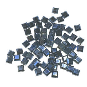 Jet Hematite Squares - AAA Grade Glass Shapes