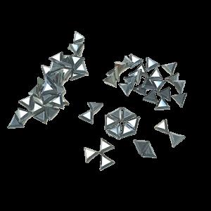 Jet Hematite Triangles - AAA Grade Glass Shapes