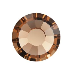 Preciosa VIVA12 Flatback rhinestone Light Smoked Topaz stock pic