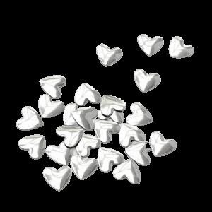Hearts - Bright Silver