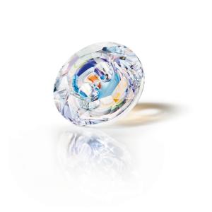 Preciosa Button - Crystal AB