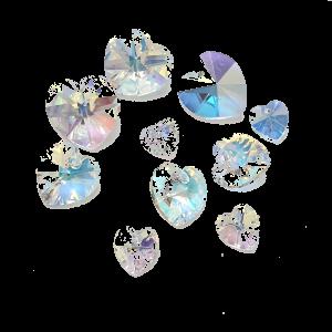 Preciosa Heart Pendant - Crystal AB