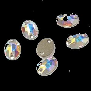 Swarovski 3210 Oval - Crystal AB Oval sew-on